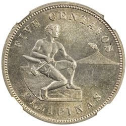 PHILIPPINES: U.S. Territory, 5 centavos, 1904. NGC MS64
