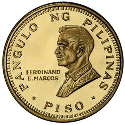 PHILIPPINES: Republic, AV piso, 1970. PCGS MS68