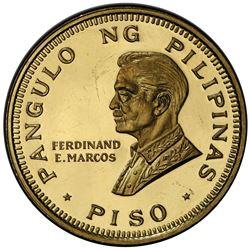 PHILIPPINES: Republic, AV piso, 1970. PCGS MS65