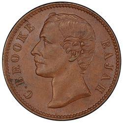 SARAWAK: Charles J. Brooke, 1868-1917, AE 1/2 cent, 1870. PCGS MS62