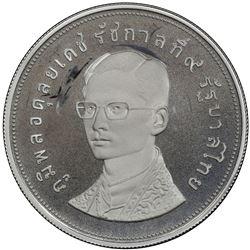 THAILAND: Rama IX, 1946-2016, AR 100 baht, BE2517 (1974). PCGS PF68