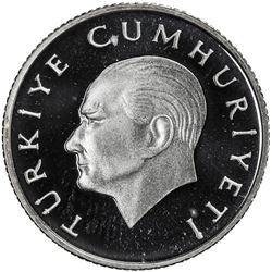 TURKEY: Republic, AR 100 lira, 1988. PF