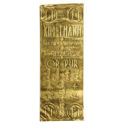 VIET NAM: AV gold wafer (13.81g), ND [1960]. UNC