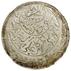 YEMEN: Yahya b. Muhammad, 1904-1948, AR imadi riyal, San'a, AH1344. NGC MS66
