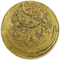 YEMEN: Ahmad b. Yahya, 1948-1962, AV riyal (4 sovereigns) (35.80g), San'a, AH1381. EF