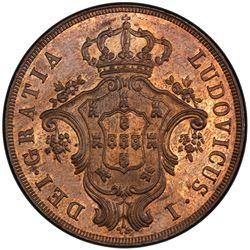 AZORES: Luiz I, 1861-1889, AE 20 reis, 1866. PCGS MS64