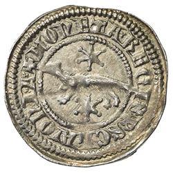 CROATIA: Stiepan V, 1270-1272, AR denar (0.85g). EF
