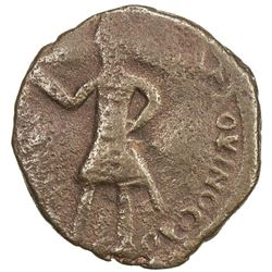 CRUSADER KINGDOMS: COUNTY OF EDESSA: Baldwin II, 2nd reign, 1108-1118, AE follis (3.58g). VF