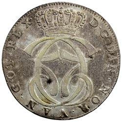 DENMARK: Christian VII, 1766-1808, AR speciedaler, 1769. VF-EF