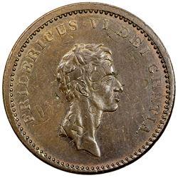 DENMARK: Frederik IV, 1808-1839, AE 12 skilling, 1812. AU