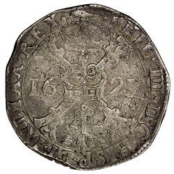 ARTOIS: Filips IV, 1621-1665, AR patagon (28.10g), 1627. F-VF