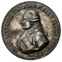 STRASBOURG: AR medal (39.29g), 1790. EF