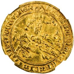 FRANCE: Jean II 'le Bon', 1350-1364, AV franc a cheval (3.79g). NGC AU53