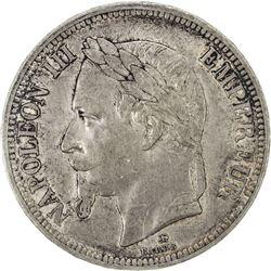 FRANCE: Napoleon III, 1852-1870, AR 5 francs, 1862. ICCS VF30