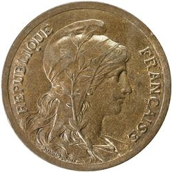 FRANCE: Third Republic, AE 10 centimes, ND (1897). UNC