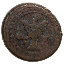 GEORGIA: Irakli II, 1762-1798, AE bisti (22.07g), Tiflis, AH1201//1781. F-VF