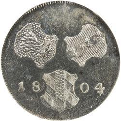 FURTHER AUSTRIA: Franz II, 1792-1806, BI 6 kreuzer, 1804. NGC MS64