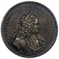 MECKLENBURG-SCHWERIN: Friedrich Wilhelm, 1692-1713, AR medal (29.29g), ND [1703]. VF-EF