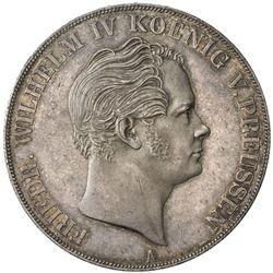 PRUSSIA: Friedrich Wilhelm IV, 1840-1861, AR 2 thaler, 1843-A. AU