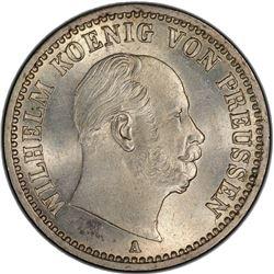 PRUSSIA: Wilhelm I, 1861-1888, AR 1/6 thaler, 1868-A. PCGS MS63