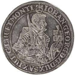 SAXONY: Johann Georg I, 1611-1656, AR thaler, 1632. NGC MS62