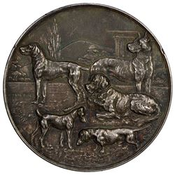 SAXONY: silvered AE medal, ND. EF