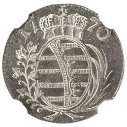 SAXE-GOTHA-ALTENBURG: Frederick II, 1691-1732, AR 1/48 thaler, 1770. NGC MS66