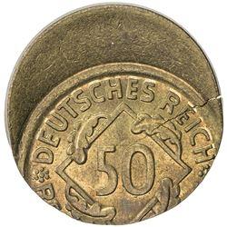 GERMANY: Weimar Republic, 50 rentenpfennig, ND (1923-24). UNC
