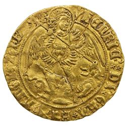 ENGLAND: Henry VII, 1485-1509, AV angel (4.94g), ND [1505-9]. VF