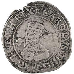 ENGLAND: Charles I, 1625-1649, AR sixpence, 1646. VF