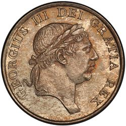 GREAT BRITAIN: George III, 1760-1820, AR 3 shillings, 1814. PCGS UNC