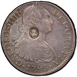 GREAT BRITAIN: George III, 1760-1820, AR dollar, ND [1797]. PCGS EF45