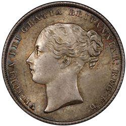 GREAT BRITAIN: Victoria, 1837-1901, AR shilling, 1858. PCGS MS65
