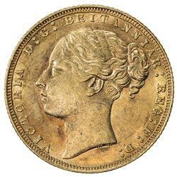 GREAT BRITAIN: Victoria, 1837-1901, AV sovereign, 1871. AU