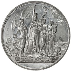 GREAT BRITAIN: white metal medal, 1853. AU