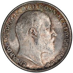 GREAT BRITAIN: Edward VII, 1901-1910, AR sixpence, 1909. PCGS MS63