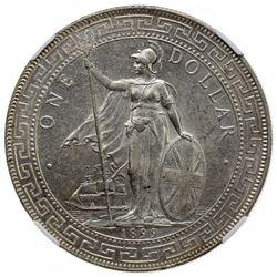 GREAT BRITAIN: AR trade dollar, 1899-B. NGC MS61