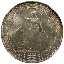 GREAT BRITAIN: AR trade dollar, 1930. NGC MS63