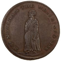 GREAT BRITAIN: AE penny token, 1795. AU