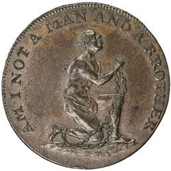GREAT BRITAIN: AE halfpenny token (9.45g), ND (ca. 1795). AU