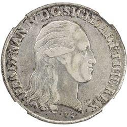 NAPLES & SICILY: Ferdinando IV, 1799-1805 (2nd Reign), AR 120 grana, 1800. NGC EF45