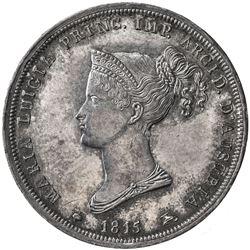 PARMA: Maria Luigia, 1815-1847, AR 2 lire, 1815. AU