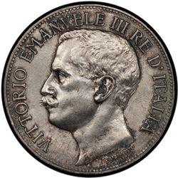 ITALY: Vittorio Emanuele III, 1900-1946, 1911-R. PCGS UNC