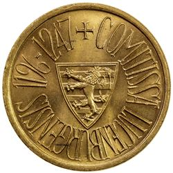 LUXEMBOURG: Charlotte, 1919-1964, AV medallic 40 francs, 1963. UNC