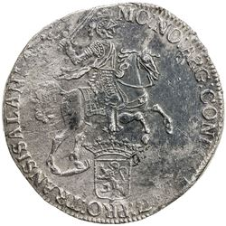 OVERIJSSEL: Dutch Republic, AR ducaton (33.19g), 1742. VF
