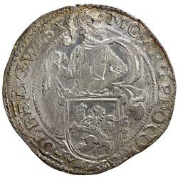 WEST FRIESLAND: Dutch Republic, AR leeuwendaalder (26.79g), 1647. UNC