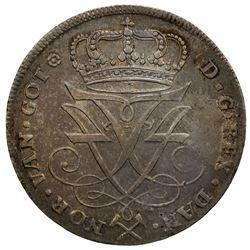 NORWAY: Frederik IV, 1699-1730, AR 4 mark, 1725. EF-AU