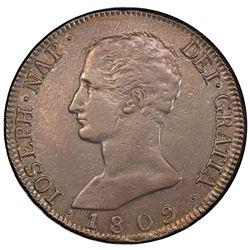 SPAIN: Jose Napoleon, 1808-1814, AR 20 reales de vellon, 1809-M