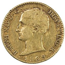 SPAIN: Jose Napoleon, 1808-1813, AV 80 reales, 1809. VF