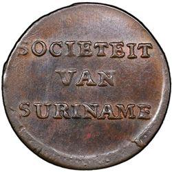SURINAM: AE duit, 1764. PCGS MS64